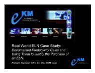 Real World ELN Case Study: - CINF