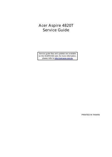 Acer Aspire 4820T Service Guide - tim.id.au