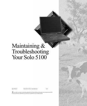 Maintaining & Troubleshooting Your Solo 5100 - Elhvb.com