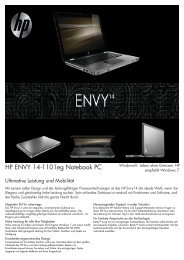 PSG Consumer 3C10 HP Notebook Envy Datasheet - Hoh.de