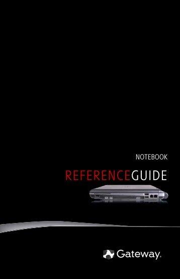 8512374 - Gateway Notebook Reference Guide (Windows Vista)