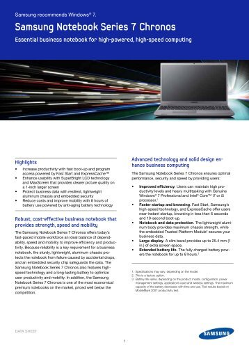 Samsung Notebook Series 7 Chronos