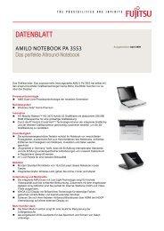 Datenblatt AMILO Notebook Pa 3553 - Fujitsu