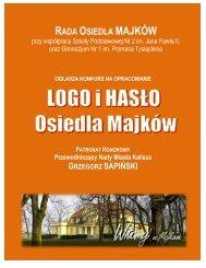 Regulamin konkursu na logo i hasło Osiedla Majków