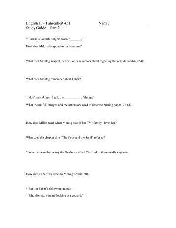 Fahrenheit 451 Part 1 Literary Devices Scavenger Hunt