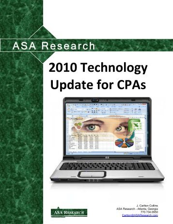 2010 Technology Update for CPAs - J. Carlton Collins