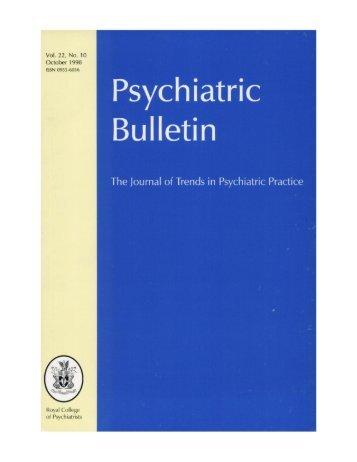 Front Matter (PDF) - The Psychiatrist