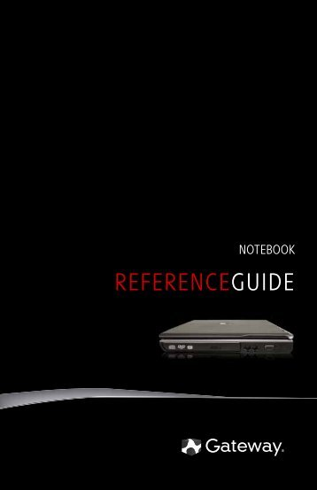8512150 - Gateway Notebook Reference Guide R1 for Windows