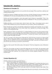 Fahrenheit 451 - Questions: - schule.at Community