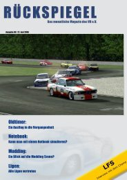 Oldtimer: Notebook: Modding: Ligen: - Virtual Racing eV