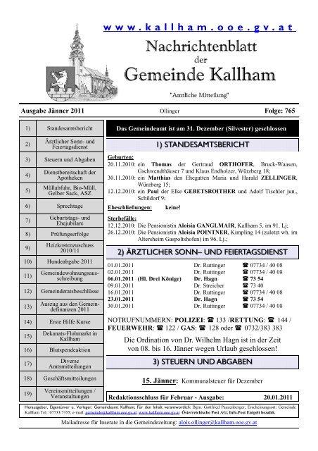 Goldhaubengruppe Kallham - Pfarre-Kallham
