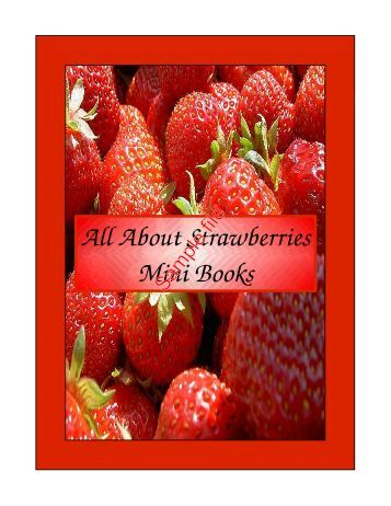 All About Strawberries Mini Books - CurrClick