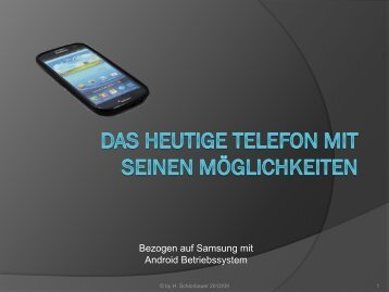 Galaxy S3 Kurs in PDF
