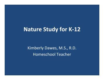 Nature Study for K-12 - American Scientific Affiliation