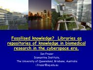 Fossilised Knowledge? - UQ eSpace - University of Queensland