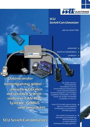SCU Seriell-Can-Umsetzer Datentransfer ... - WTK Elektronik