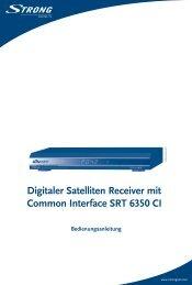 Digitaler Satelliten Receiver mit Common Interface SRT 6350 CI