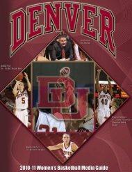 2010-11 Women's Basketball Media Guide - University of Denver ...