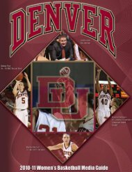 2010-11 Women's Basketball Media Guide - University of Denver ...