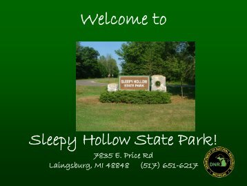 Welcome to Sleepy Hollow State Park!