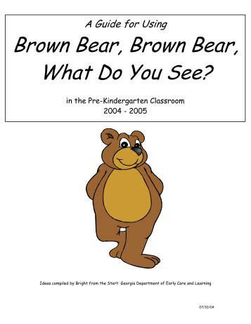 Brown Bear, Brown Bear, What Do You See? - eBarster