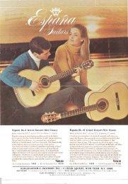 1967 España catalog - Vintage Guitars
