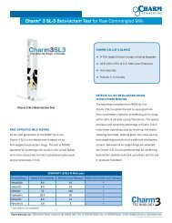 Charm® 3 SL-3 Beta-lactam Test for Raw Commingled Milk