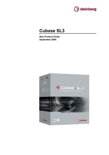 New Product Guide - Cubase SL3 - Midisoft
