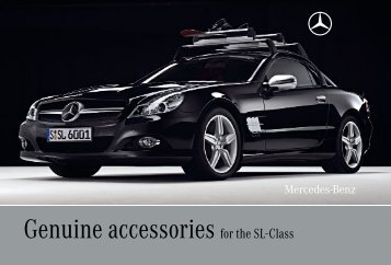 Genuine accessories for the SL-Class
