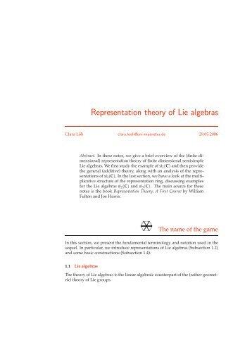 Representation Theory of Lie Algebras.pdf - Deferential Geometry