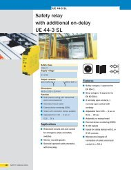 Safety relay with additional on-delay UE 44-3 SL