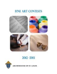 Fine Art Contests 2012 -2013 - Archdiocese of St. Louis