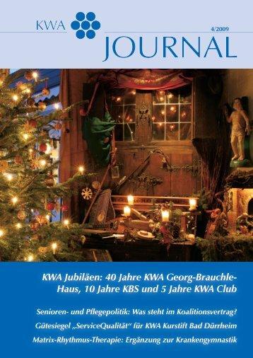 KWA Journal 04/2009 - KWA - Kuratorium Wohnen im Alter