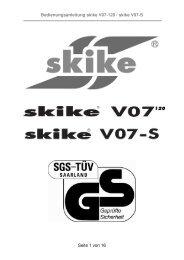Bedienungsanleitung skike V07-120 / skike V07-S Seite 1 von 16