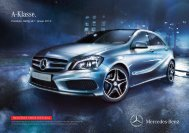 Preisliste A-Klasse - Mercedes-Benz Schweiz
