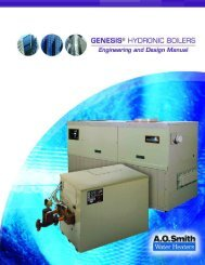 Genesis Engineering and Design Manual - AO Smith Water Heaters