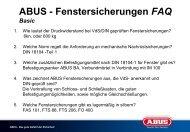 ABUS - Fenstersicherungen FAQ Basic