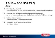 ABUS – FOS 550 FAQ Basic