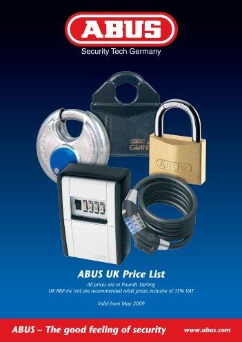 ABUS UK – Price List 2009 - Lumsden Security