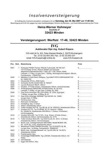 Insolvenzversteigerung - IVG mbH & Co. KG
