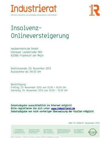 Nett Insolvenzverkauf Buromobel Bilder - Hauptinnenideen - nanodays.info