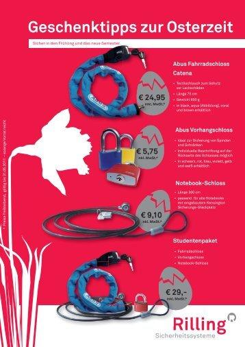 Geschenktipps zur Osterzeit - Rilling Sicherheitssysteme