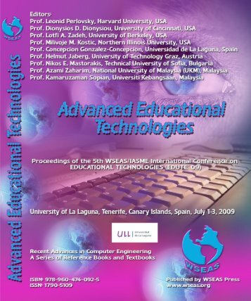 Advanced Educational Technologies Proceedings of the ... - Wseas.us