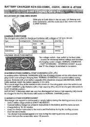 BATTERY CHARGER KEN-503-0500K, -0520K, -0600K & -0700K