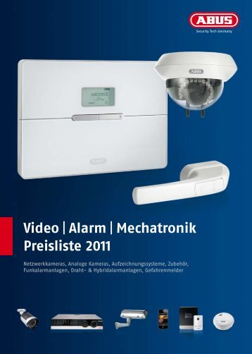 Video | Alarm | Mechatronik Preisliste 2011 - mapleleaf-ag.de
