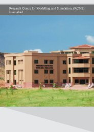 Research Centre for Modelling and Simulation, (RCMS), Islamabad