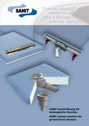 SANIT Systemlösung für bodengleiche Duschen SANIT system ...
