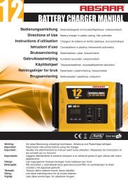 12 BATTERY CHARGER MANUAL - Absaar