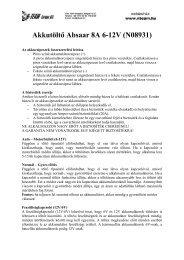 Akkutöltő Absaar 8A 6-12V (N8359)