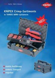 Knipex Abisolierzangen, Crimpsortimente und ... - PK Elektronik